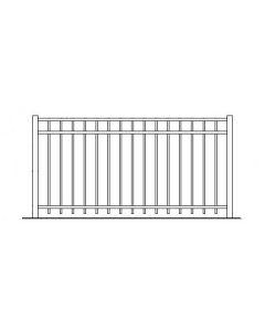 36 Inch High Auburn Aluminum Fence