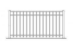 54 Inch High Auburn Aluminum Fence