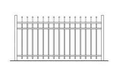 42 Inch High Aurora Aluminum Fence