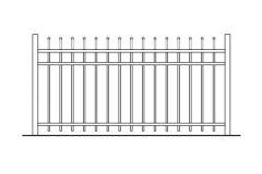 54 Inch High Aurora Aluminum Fence